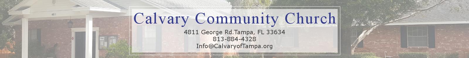 Free Sermon Outlines – Calvary Community Church